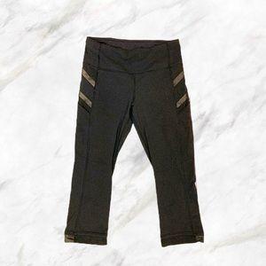 Lululemon 🍋   Black 3/4 Ankle Cropped Leggings
